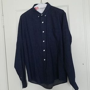 ami ALEXANDRE MATTIUSSI Blue Cotton Buttoned Shirt